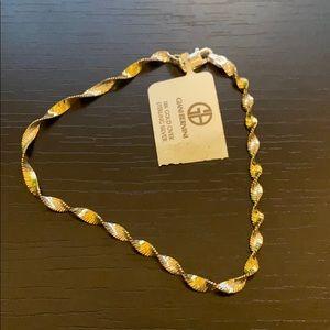 Giani Bernini Sterling Silver & 24k Gold Bracelet